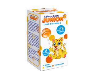 Junior C, lizaki z witaminą C, opakowanie 18 szt. kartoników