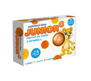 Junior C, pastylki do ssania z witaminą C, opakowanie 40 szt. kartoników