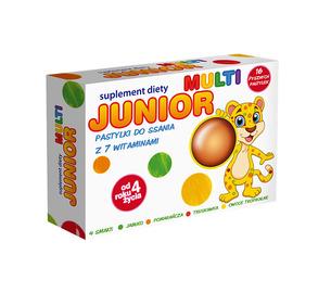 Junior Multi, pastylki do ssania z 7 witaminami, opakowanie 40 szt. kartoników