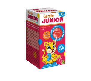 Junior Gardło, Lizaki bez cukru, opakowanie 18 szt. kartoników