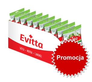 Promocja Evitta zielona herbata, arbuz – nadziewane z Vit. C display 20 szt.