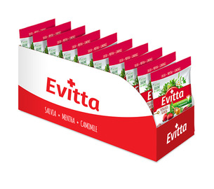 Evitta dzika róża, miód -  nadziewane z Vit. C display 20 szt.