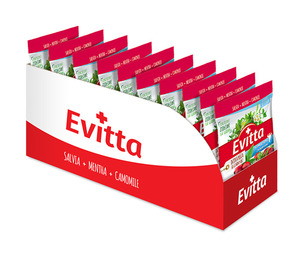 Evitta dzika róża, czarny bez  - bezcukrowe z Vit. C display 20 szt.
