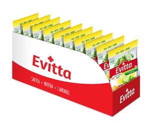 Evitta cytryna, limonka, mięta - nadziewane z Vit. C display 20 szt.
