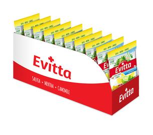 Evitta cytryna, limonka, mięta  - bezcukrowe z Vit. C display 20 szt.