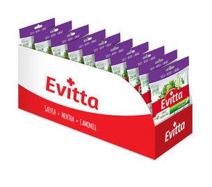 Evitta szałwia, cytryna, miód - nadziewane z Vit. C display 20 szt.