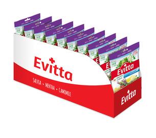 Evitta szałwia, cytryna, czarny bez - bezcukrowe  z Vit. C display 20 szt.
